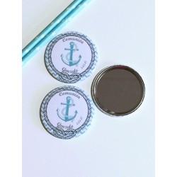 espejo personalizado marinero ancla