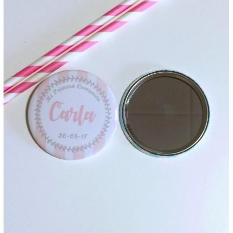 espejo personalizado raya rosa
