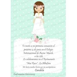 INVITACIÓN COMUNIÓN VINTAGE