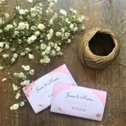 Chocolatina personalizada boda vintage