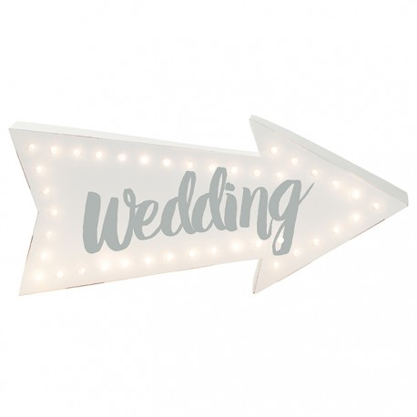 "SEÑAL LUMINOSA ""WEDDING"""