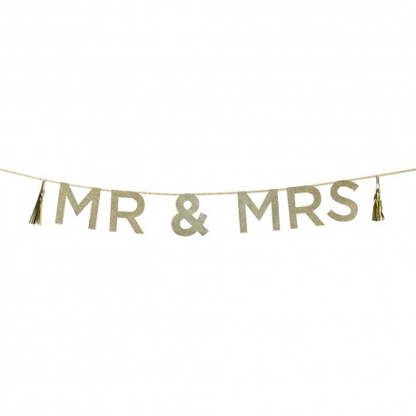 "GUIRNALDA GLITTER ""MR & MRS"""
