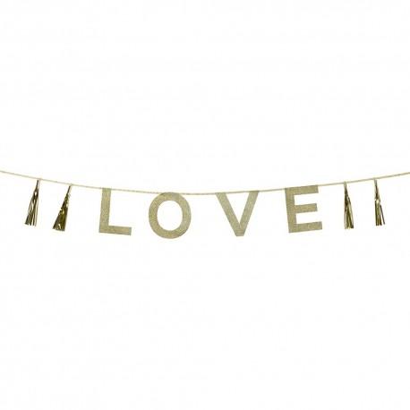 "GUIRNALDA GLITTER ""LOVE"""