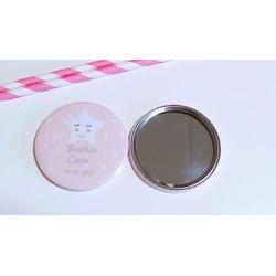 espejo personalizado estrella bebe