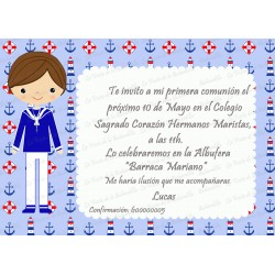 INVITACIÓN COMUNIÓN MARINERO
