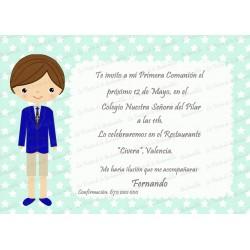 INVITACIÓN COMUNIÓN ESTRELLITAS MINT