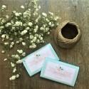 Chocolatina personalizada boda mint-flores