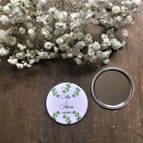 espejo personalizado boda eucalipto