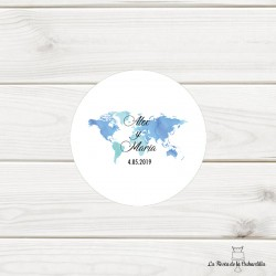 ETIQUETA DISEÑO mapa mundi