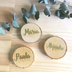marcasitio rodaja madera boda