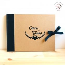 Libro de Firmas personalizado boda kraft
