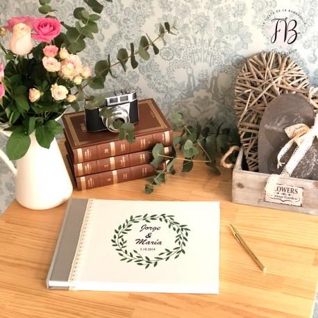 Libro de Firmas personalizado boda vintage