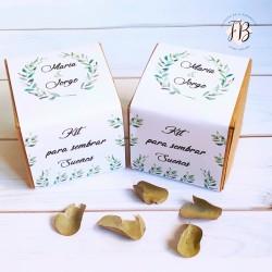Maceta Kit de semillas personalizada